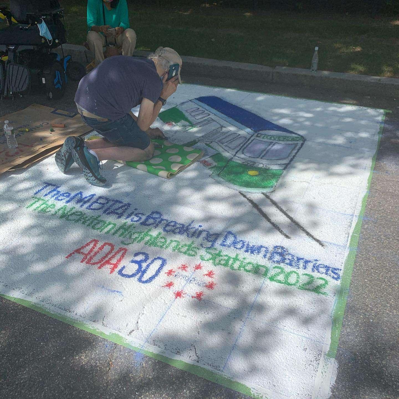 ADA 30 anniversary chalk art