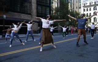 Ballet Dancers in Street