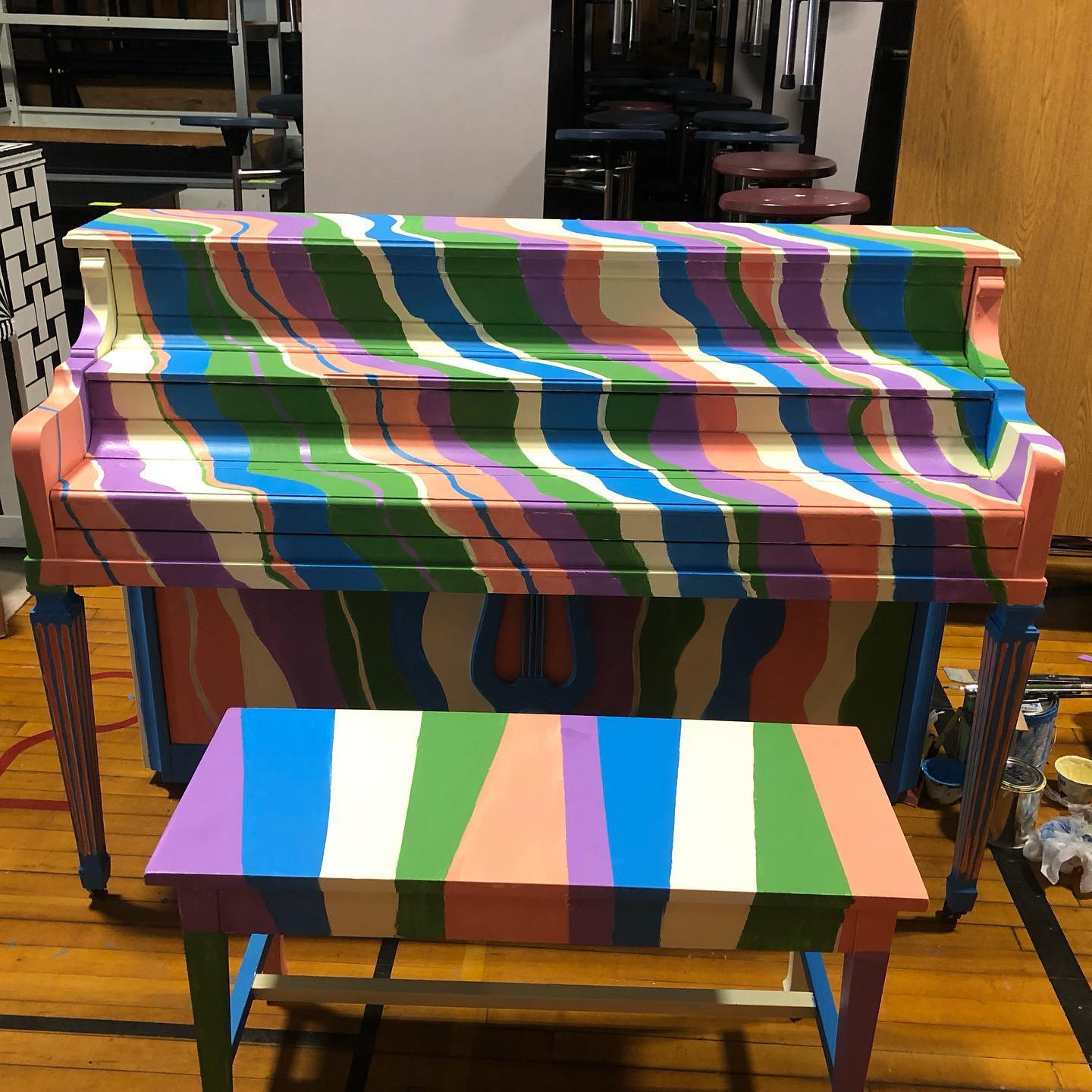 Colorful Swirls on a Piano