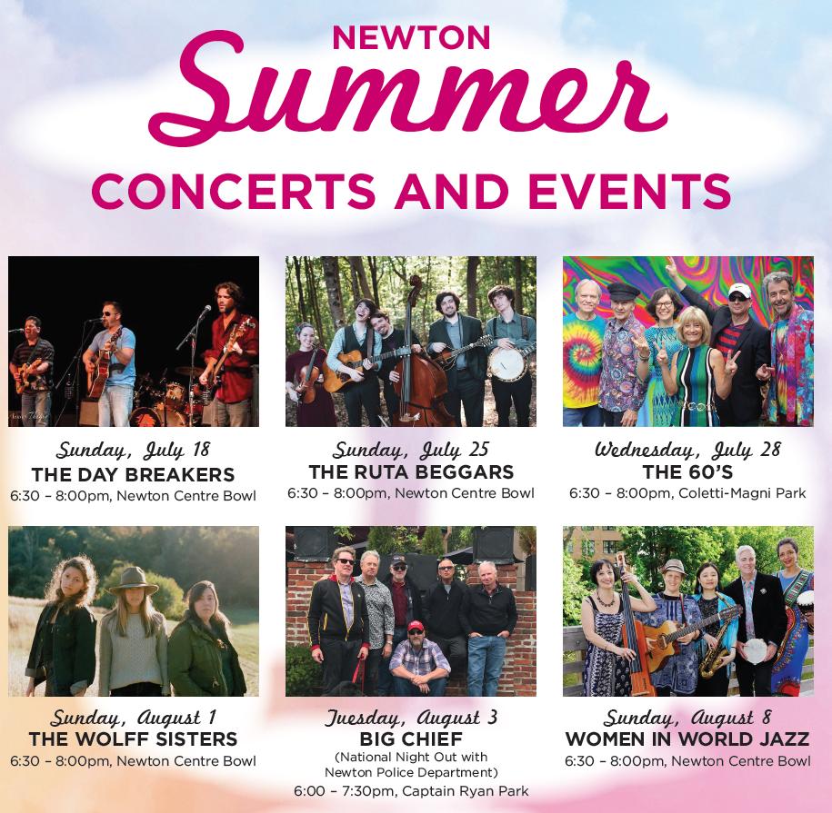 Newton Summer Concerts Flyer 2021
